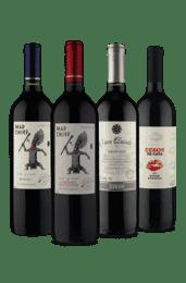 kit Quarteto Tintos No Mundo (4 Vinhos)