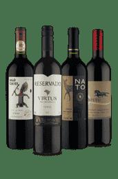 Kit Uvas Diversas (4 Vinhos)