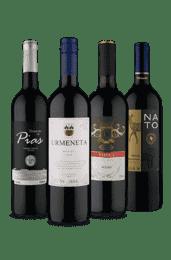 Kit Sabores Tintos Vinho Fácil (4 Vinhos)