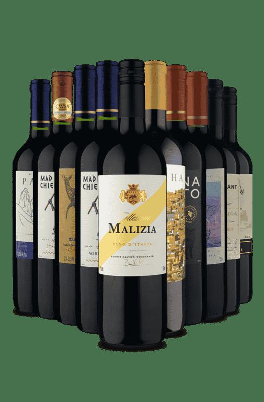 Kit Tintos Premium pela METADE DO PREÇO (10 vinhos)