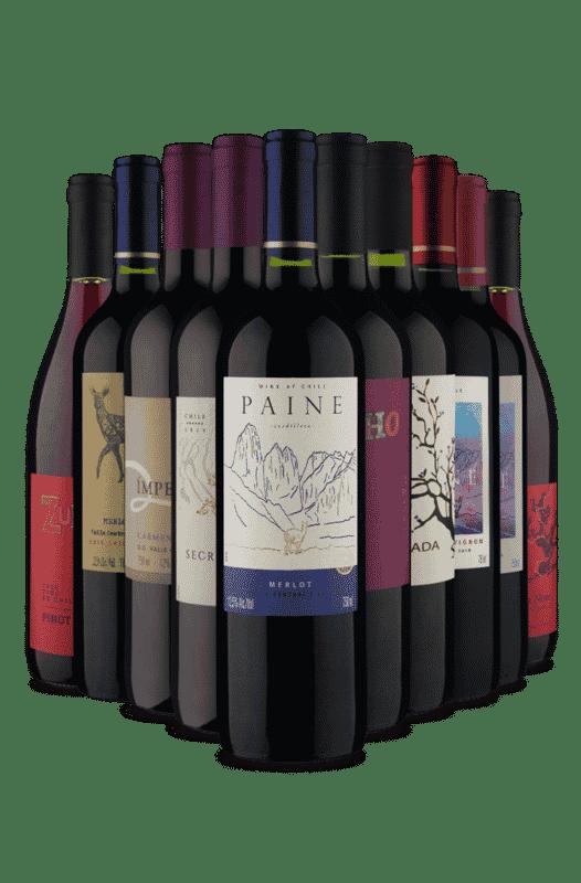 Kit uvas tintas - Seco e Meio Seco (10 Vinhos)