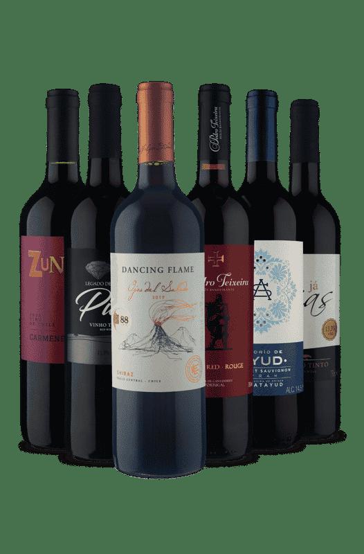 Kit Relâmpago Campeões Tintos (6 Vinhos)