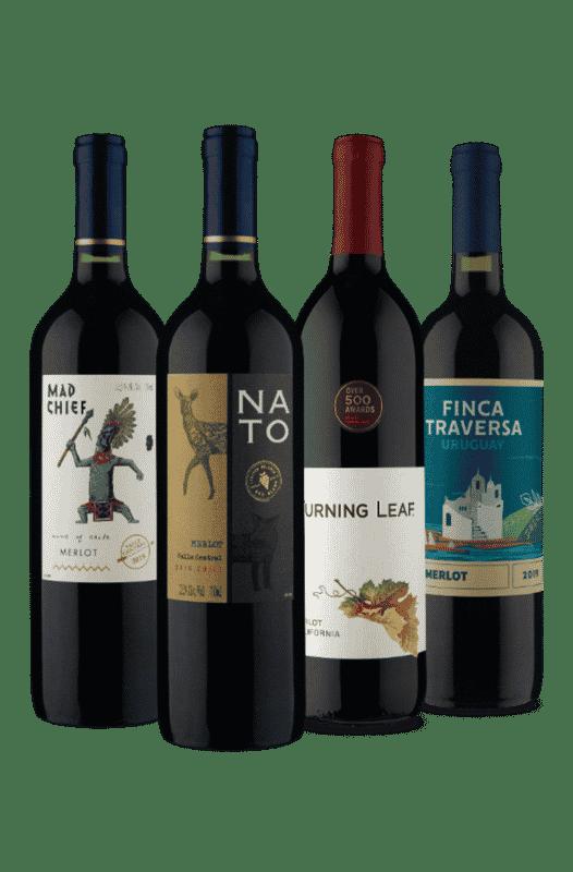 Kit Merlot de 3 Países (4 Vinhos)