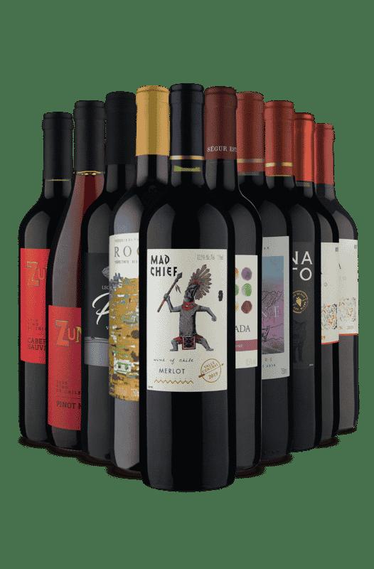 Kit Os Melhores Tintos Portugal + Chile (10 Vinhos)