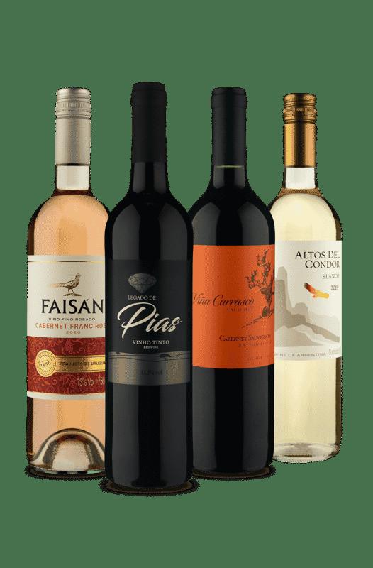 Kit Mistura de Países e Sabores (4 Vinhos)