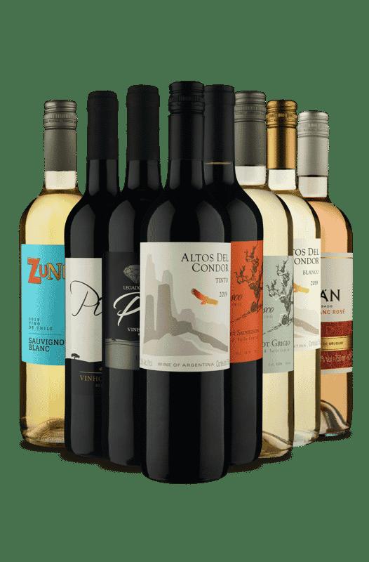 Kit Misturas de Países e Sabores (8 Vinhos)