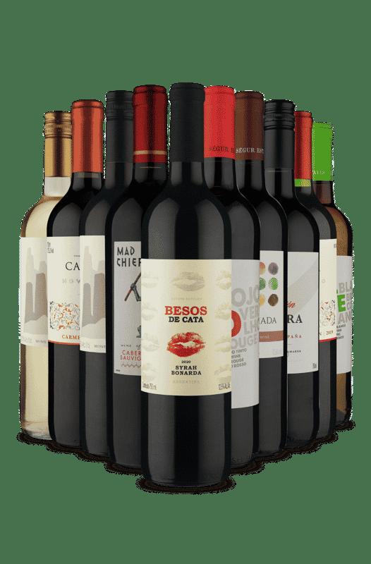 Kit Seleção Uvas Diversas (10 Vinhos)