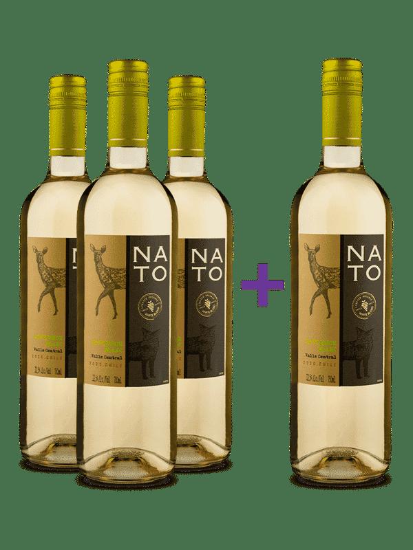Compre 3 e leve 4 Nato Sauvignon Blanc 2020