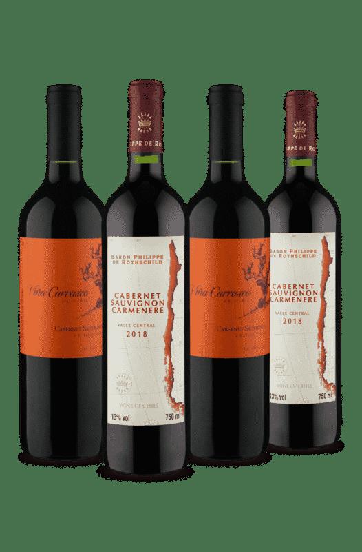 Kit Vinhos Chilenos para Presentear (4 Vinhos)