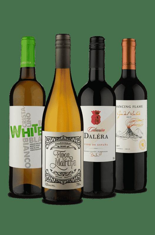 Kit Vou de Branco e Tinto (4 Vinhos)