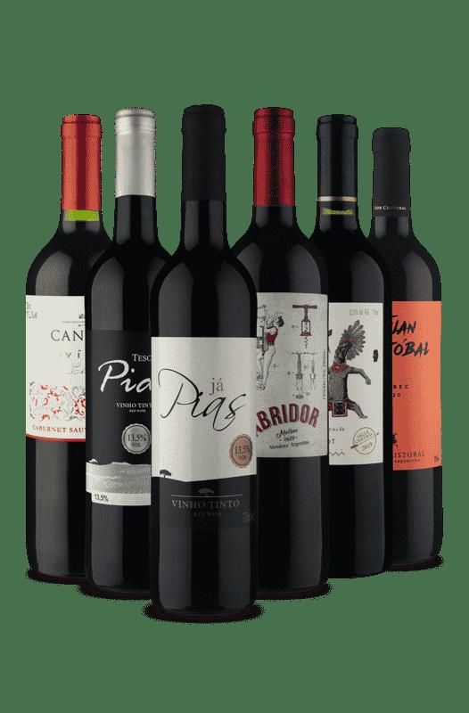 Kit Os Melhores Tintos (6 Vinhos)