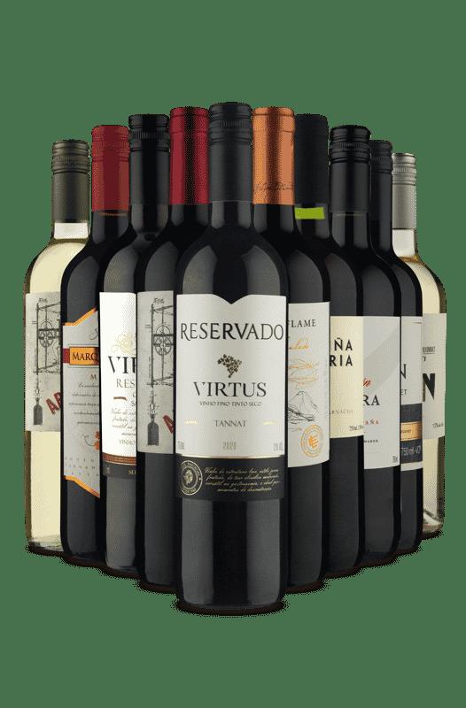Kit Brancos e Tintos (10 Vinhos)
