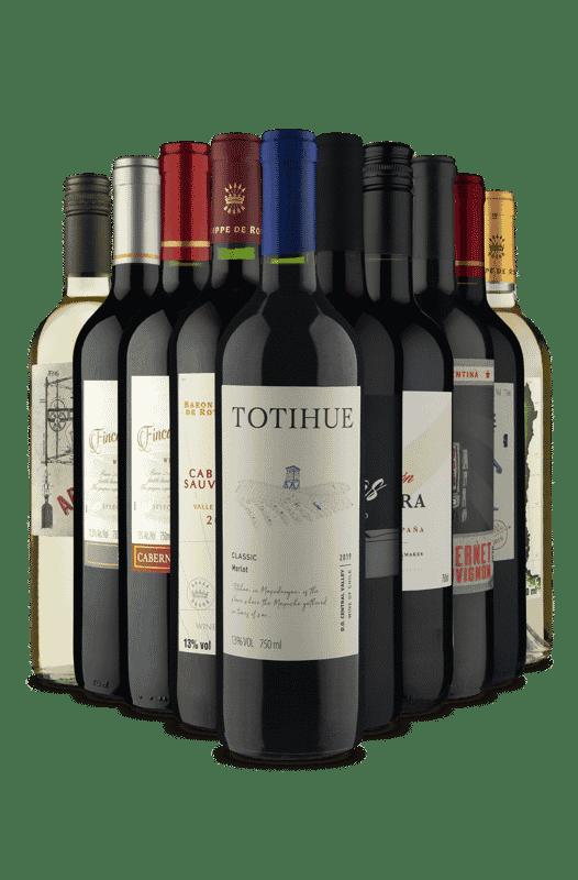 Kit Tintos e Brancos (10 Vinhos)