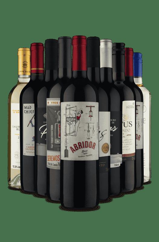 Kit Sabores Velho e Novo Mundo (10 Vinhos)