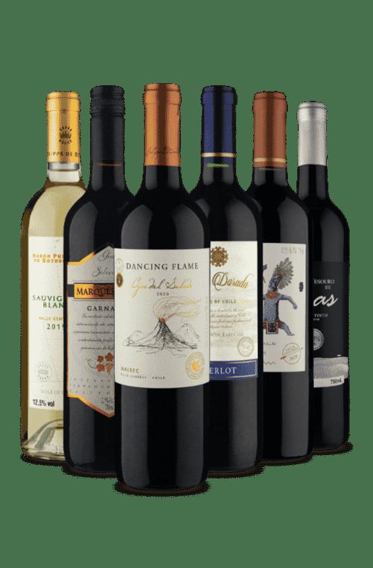 Kit Somente os Mais Vendidos (6 Vinhos)