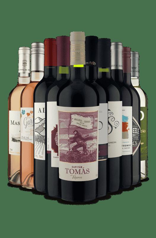 Kit Mistura de Tipos e Países (10 Vinhos)