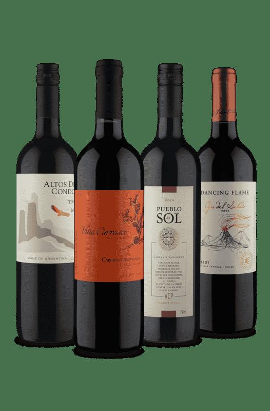 Kit  Tintos Secos Sul-americanos (4 Vinhos)