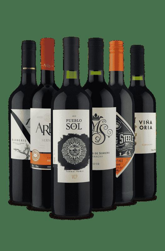 Kit Experimente Novas Uvas (6 Vinhos)