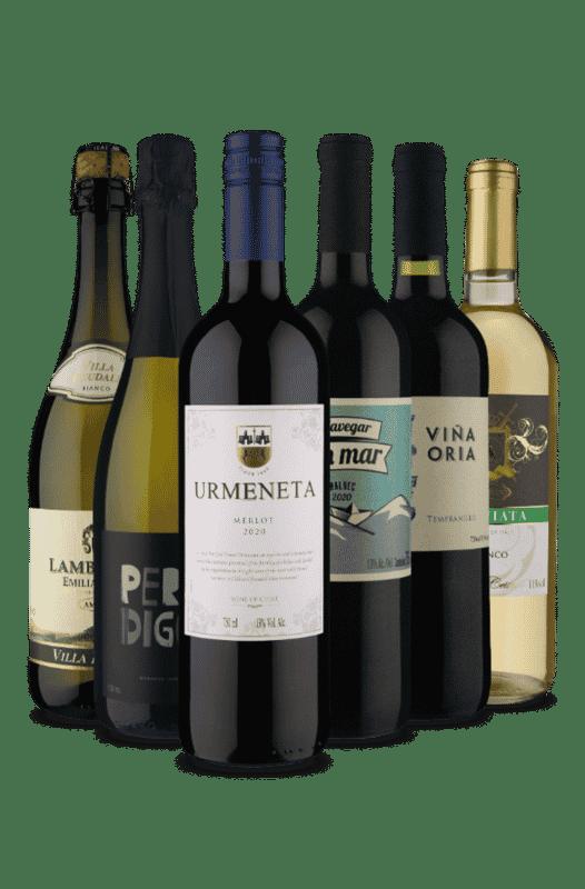 Kit Meio Tinto/Meio Branco (6 Vinhos)