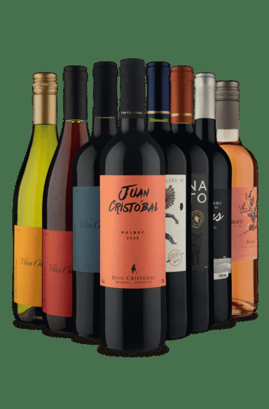 Kit Branco, Rosé e Tintos (8 Vinhos)