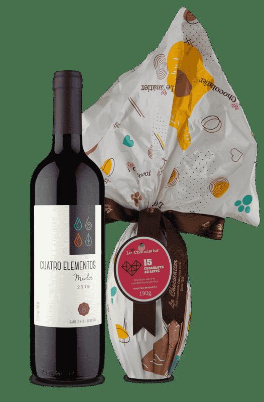 Kit Merlot + Ovo Le Chocolatier 190g