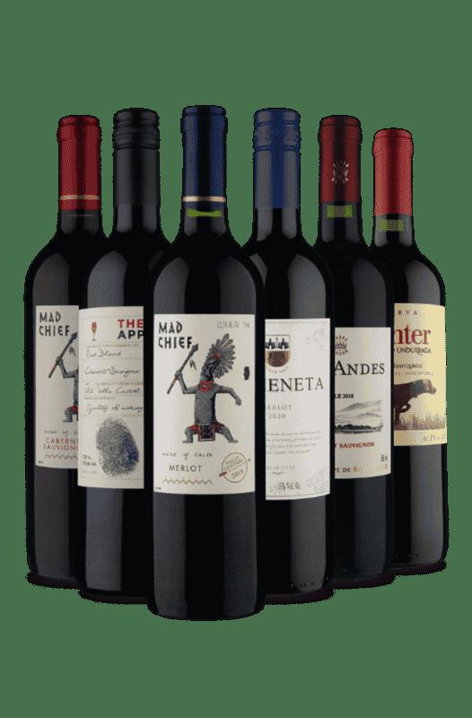 Kit Cabernet Sauvignon e Merlot do Chile (6 Vinhos)