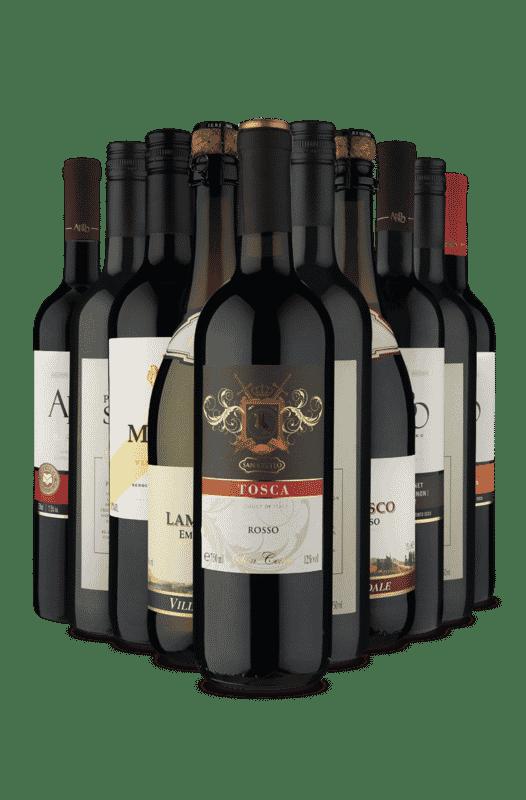 Kit Uruguai, Brasil e Itália (10 Vinhos)