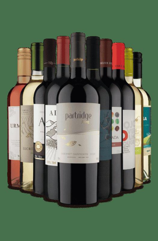Kit Familias Diversas de Secos (10 Vinhos)