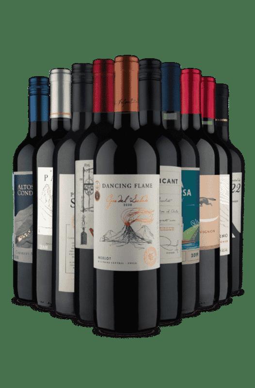 Kit Só Tintos Tops (10 Vinhos)