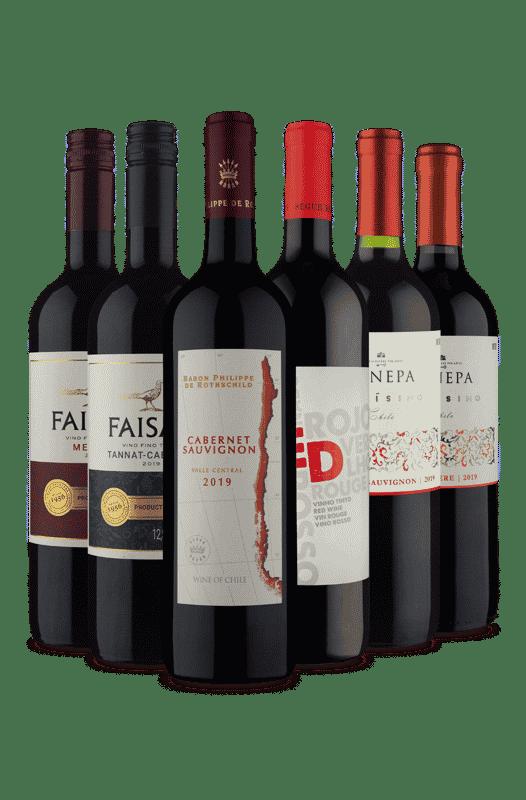 Kit Tintos Velho e Novo Mundo (6 Vinhos)