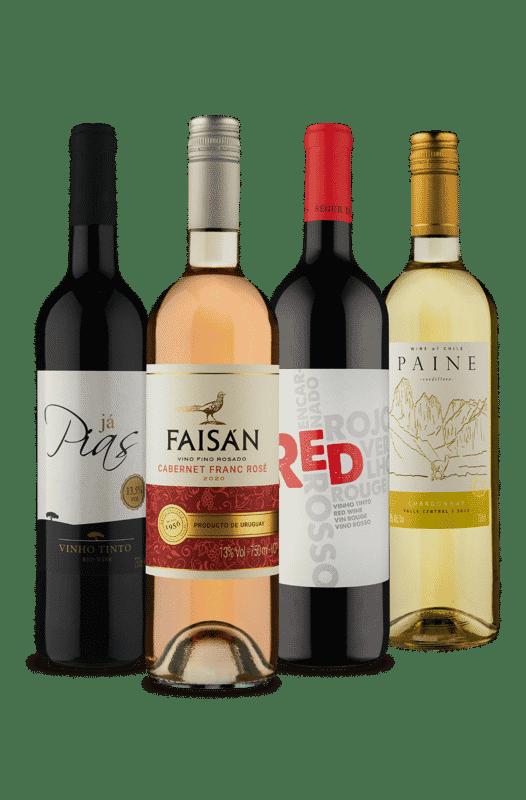 Kit Quarteto Refrescantes Vinho Fácil (4 Vinhos)