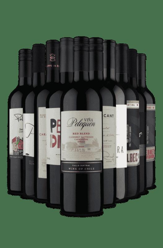 Kit Secos e Meio Secos Tintos em 3 Países (10 Vinhos)