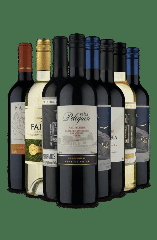 Kit Vinhos Selecionados para sua Adega (8 Vinhos)