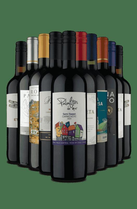 Kit Vinhos Meio Seco 4 Países (10 Vinhos)
