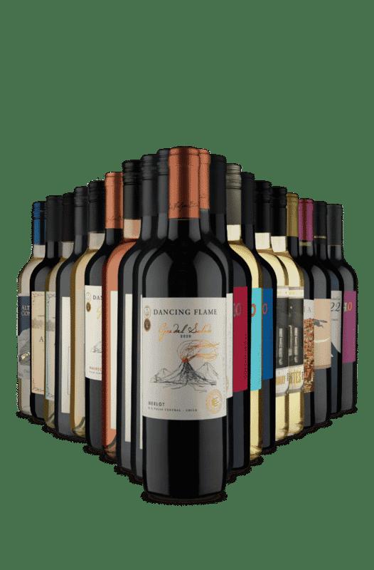 Kit Adega Cheia na Vinho Fácil (20 Vinhos)