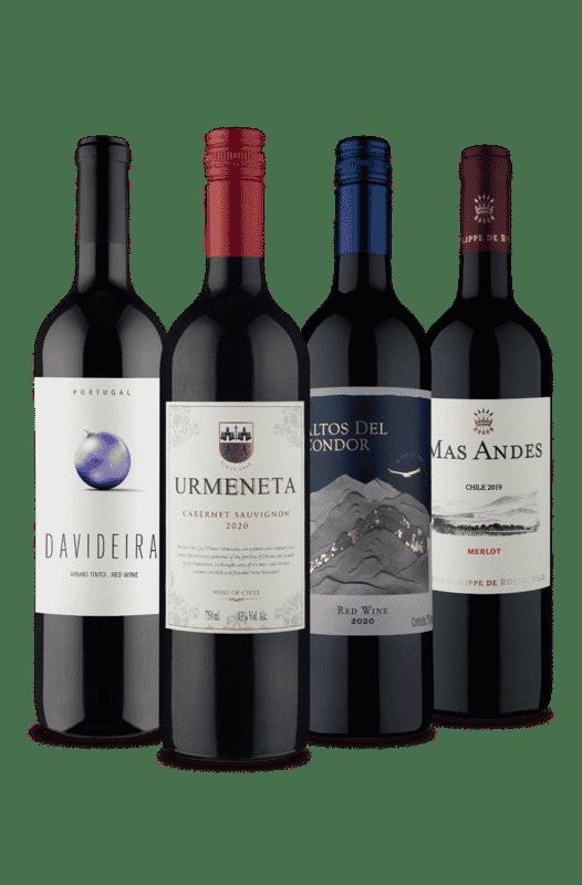 Kit BBB, 4 Tintos Bons, Bonitos e Baratos (4 Vinhos)
