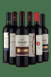 Kit Tintos de 3 Países (6 Vinhos)
