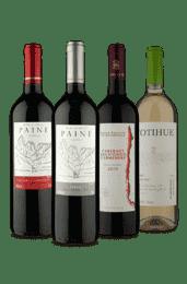 Kit Quarteto Chilenos - 1 Branco 3 Tintos (4 Vinhos)