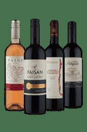 Kit 4 Cabernet 3 Tintos 1 Rosé (4 Vinhos)