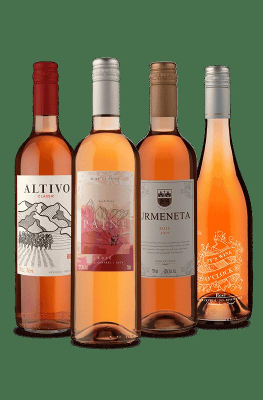 Kit 4 refrescante Rosé (4 Vinhos)