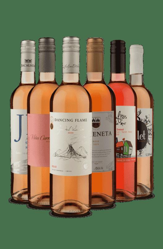 Kit Rosés 3 Países (6 Vinhos)