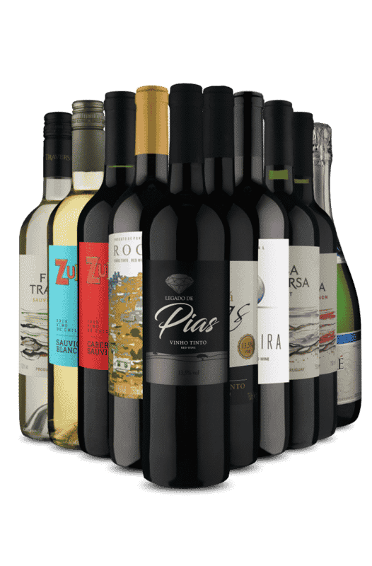 Kit Degustação 4 países e 10 vinhos (10 Vinhos)