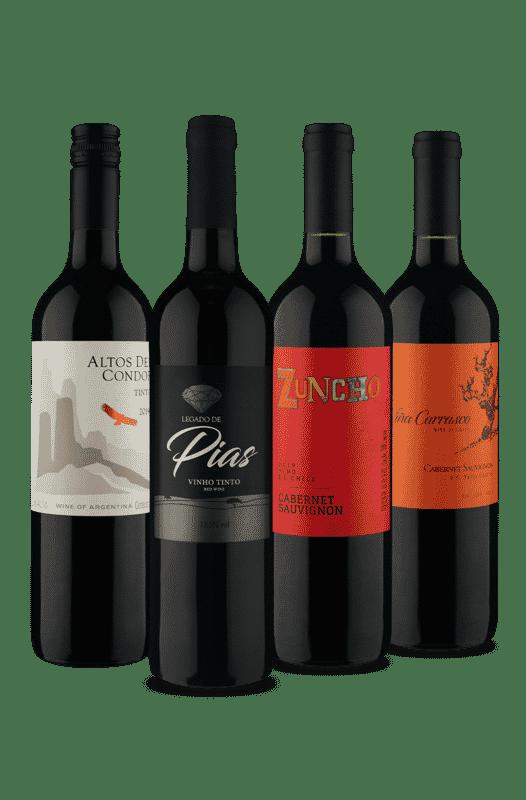 Kit Quarteto Tintos (4 Vinhos)