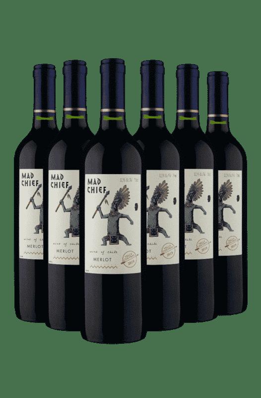 Kit Mad Chief Merlot 2019 (6 Vinhos)