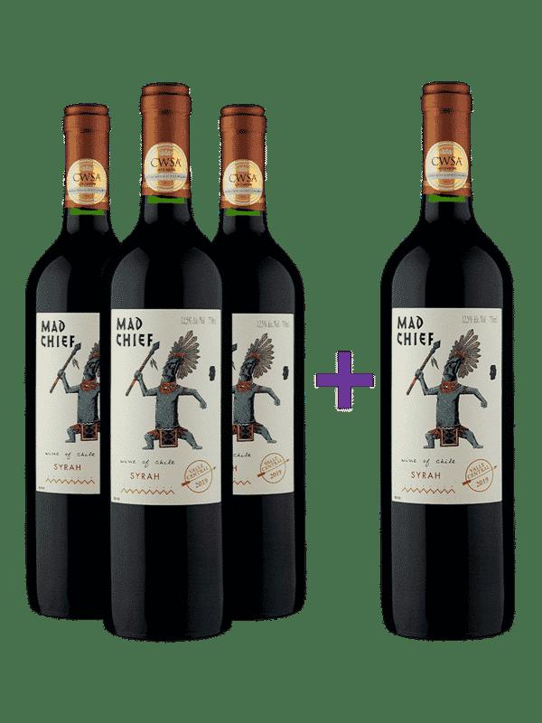 Compre 3 e leve 4 Mad Chief Syrah 2019