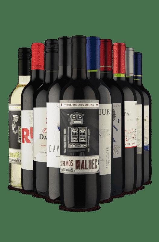 Kit 9 Tintos e 1 Segredo (10 Vinhos)