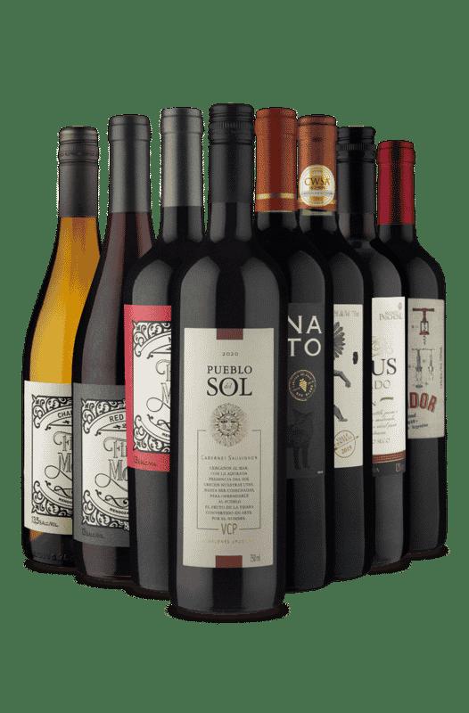 Kit Mix de Uvas e Países (8 Vinhos)