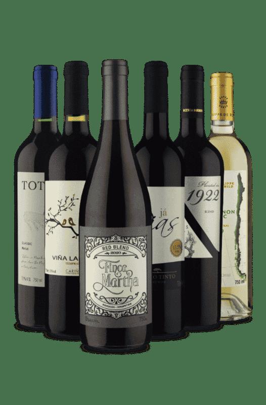 Kit Europeu Sulamericano (6 Vinhos)
