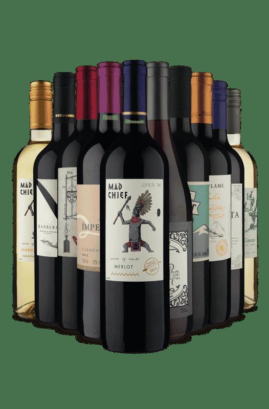 Kit Chilenos + Argentinos (10 Vinhos)