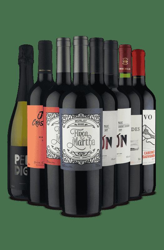 Kit Uvas Mais Adoradas (8 Vinhos)